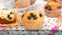 Chocolate Chip Muffins - How to Make Homemade Muffins from Scratch