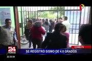 Se registra sismos de magnitud 4.8 en Chimbote y 4.1 en Casma