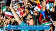 Banned From Stadiums, Iranian Women Attend WC Screening in 40 years