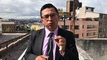 [#ENVIVO] Desde las afueras del Colegio Mejía, en el centro de Quito (calles Vargas y Matovelle). Estudiantes de ese establecimiento protestaron por la sancione