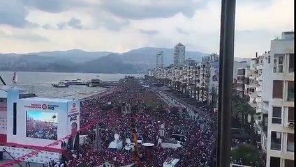 Muharrem İnce'nin İzmir mitinginde gök var, deniz var, yer yok!