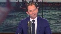 """Pour Benoît Hamon, """"le président de la République a une responsabilité plus grande que celle de suivre les sondages qui lui disent, ne permettez pas que l'#Aquarius accoste"""""""