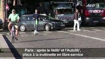 Location de trottinettes électriques en libre-service à Paris