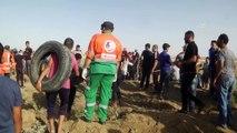 İsrail askerleri Gazze sınırında 206 Filistinliyi yaraladı (1) - GAZZE