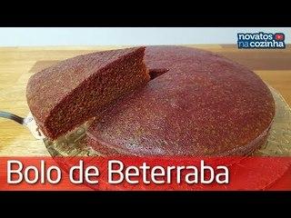 APRENDA A FAZER BOLO DE BETERRABA SUPER FOFINHO   RECEITA FÁCIL