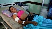 Hospitals in the Yemeni port of Hodeida are struggling to cope