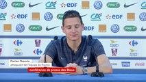 """La France déjà qualifiée en 8e de finale : """"Il n'y a pas de risque de décompression"""" contre le Danemark. """"On jouera tous les matchs à fond. Quand on entre sur le terrain, c'est pour gagner"""", assure Florian Thauvin"""