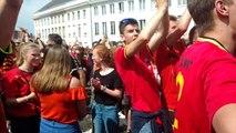 La fiesta à Tournai à la fin du match Belgique-Tunisie
