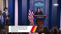 Sarah Sanders Says She Was Told To Leave A Restaurant Because She Works For Trump