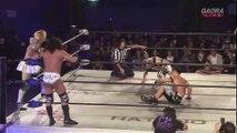 MaxiMuM (Jason Lee, Masato Yoshino & Naruki Doi) (c) vs. Tribe Vanguard (Flamita, YAMATO & Yosuke Santa Maria) Dragon Gate Champion Gate In Osaka - Tag 1