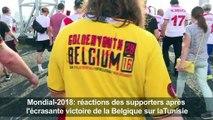 Mondial-2018: réactions des supporters après Belgique-Tunisie