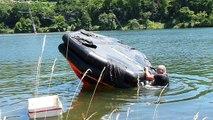 Insolite : des radeaux de survie dans le port aux Roches-de-Condrieu