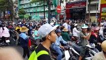 [ Biểu tình phản đối cho Trung Quốc thuê đặc khu ] Sài Gòn trưa chiều 10/06/2018 - 127: Góc đường Trần Hưng Đạo và Đề Thám, Quận 1...