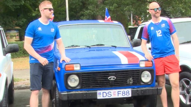 FOOTBALL: 2018 FIFA World Cup: Fan Colour - Icelandic fans' epic Soviet car journey to Russia