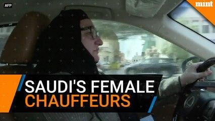 Saudi Arabia's female chauffeurs collect customers