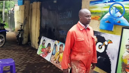 Kenyan fine artist who makes thousands from  portraits