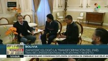 """Zapatero: """"Bolivia ha recuperado su identidad y respeto en el mundo"""""""