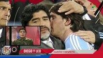 Diego Armando Maradona envía un mensaje de respaldo a Leo Messi