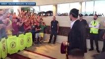 Les supporters de l'AS Roma mettent l'ambiance pour l'arrivée de Pastore