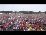 England v Panama - Fans Celebrate England Goal At Isle Of Wight Festival - Russia World Cup 2018