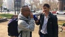Artista Callejero: René Clavo fakir desde Santiago de Chile!