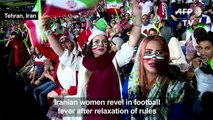 Iranian women at the fore of World Cup fever