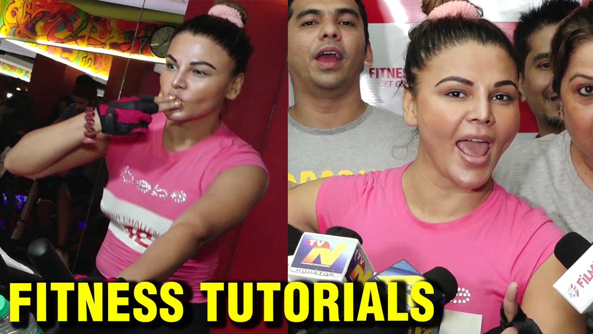 Rakhi Sawant Fitness Tutorials