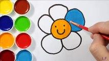 Comment dessiner et peindre des fleurs - Coloriages pour enfants - Couleurs d'art pour les enfants - Apprendre le dessin