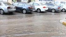 Çankırı'da Sağanak Yağış Sonrası Sokaklar Gölete Döndü