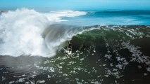 Il surf la même vague énorme pendant plus de 2 minutes !
