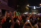 Despite World Cup Elimination Iranian Fans Celebrated Their Team on the Streets