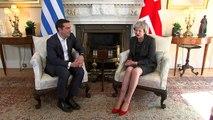 Theresa May meets Greek PM Tsipras in Downing Street