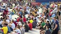 """بث مباشر: مشجعون يتابعون مباريات المجموعة """"ج"""" من مهرجان المشجعين في موسكوVia: Ruptly"""