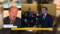 """Rencontre Macron/Pape François : """"C'est une condition importante pour essayer de rallier à soi le vote catholique"""", juge Christophe Alix #lesinformés"""