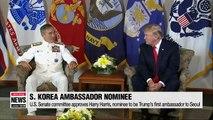 U.S. Senate committee unanimously approves Harry Harris, S. Korean ambassador nominee