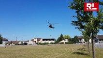 Jarny : un hélicoptère de combat pour la signature de convention avec le lycée Jean-Zay et le 3e RHC
