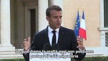 Macron: non c'è crisi migratoria, in Italia il picco un anno fa