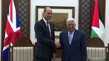Il principe William incontra Abu Mazen a Ramallah