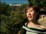 Sun Ho (Ho Yeow Sun) At The Hollywood Sign, Chinese Version
