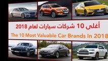 فيديو أغلى 10 شركات سيارات لعام 2018