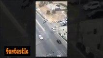 فيديو سيارات تطير في الهواء بطريقة غريبة في العراق