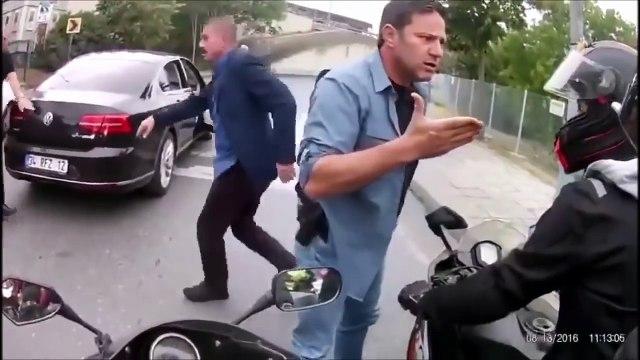 فيديو: عصابة حاولت سرقة سيارة حرس الرئيس التركي .. شاهد ماذا حدث!