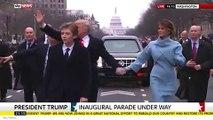فيديو وصور بارون ترامب يحرج والده دونالد ترامب بحفل تنصيبه عدة مرات