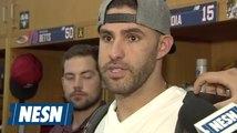 J.D. Martinez stays humble when asked about making Red Sox history