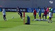 Équipe de France :  travail devant le but pour les Bleus I FFF 2018