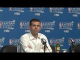 Brad Stevens on Boston Celtics Game 1 loss to LeBron James and Cleveland Cavaliers