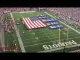 Patriots Super Bowl banners in National Anthem, NFL 17-18 Season Kickoff