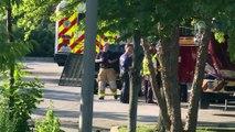 ABD'de silahlı saldırı - Olay yeri çevresinde alınan güvenlik önlemleri - MARYLAND