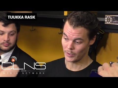 (full) Tuukka Rask on BRUINS WIN vs GOLDEN KNIGHTS