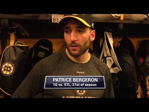 Boston Bruins PATRICE BERGERON on Bruins youngsters